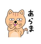ゆるい感じでうざいむかつく猫です(個別スタンプ:5)