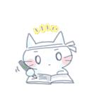 ゆるり白猫のスタンプ。
