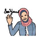 Pretty Hijab(個別スタンプ:02)