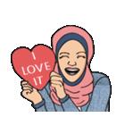 Pretty Hijab(個別スタンプ:04)
