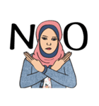 Pretty Hijab(個別スタンプ:08)