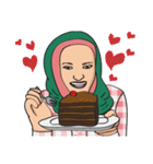 Pretty Hijab(個別スタンプ:21)