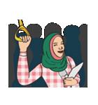 Pretty Hijab(個別スタンプ:22)