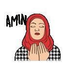 Pretty Hijab(個別スタンプ:27)