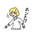 """愛くるしい、""""月ミちゃん""""。 [月より](個別スタンプ:05)"""