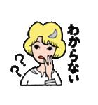 """愛くるしい、""""月ミちゃん""""。 [月より](個別スタンプ:09)"""