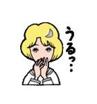"""愛くるしい、""""月ミちゃん""""。 [月より](個別スタンプ:16)"""