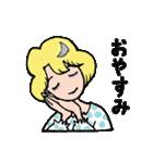 """愛くるしい、""""月ミちゃん""""。 [月より](個別スタンプ:23)"""