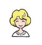 """愛くるしい、""""月ミちゃん""""。 [月より](個別スタンプ:40)"""