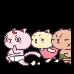 ネコ3兄弟