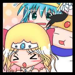[LINEスタンプ] 勇者と姫