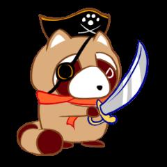 レッサーパンダ海賊 たぬんく