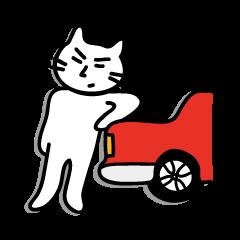 [LINEスタンプ] リアクションまゆげネコ参上!