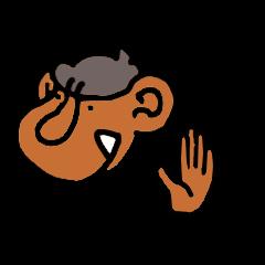 [LINEスタンプ] おさるの手 (1)