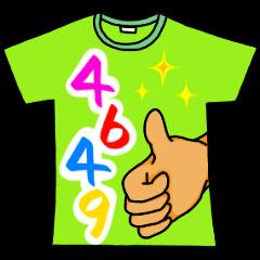 [LINEスタンプ] メッセージは、Tシャツで☆ ~基本編~ (1)