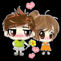 [LINEスタンプ] Cute Couple in Love. (1)