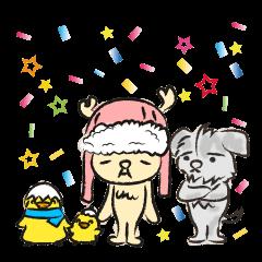 トナカイのしかさん。と犬とヒヨコ