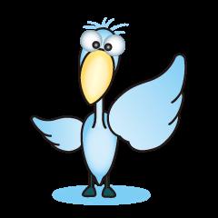大きな青い鳥