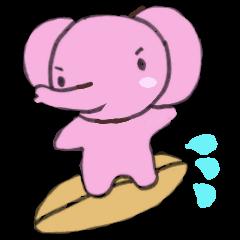 がんばる象