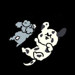 ダルメシアンとプードルスタンプ