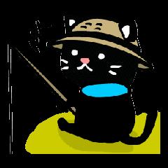釣りにゃんこ(くろ太とマシロ)