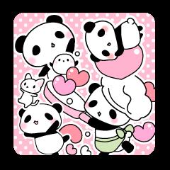 ふんわりパンダとシマエナガ