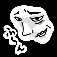 腹の立つ顔のスタンプ