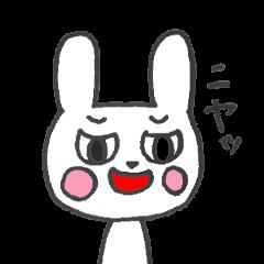 目つきの悪いウサギ
