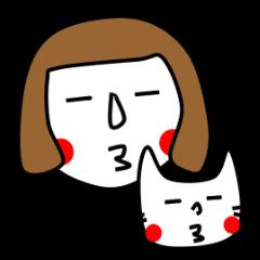 ずぼらんと猫