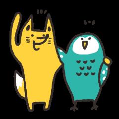 キツネとフクロウ