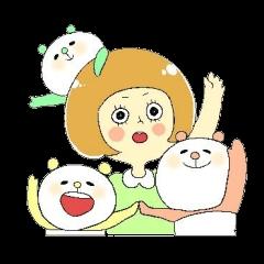 女の子スタンプ♡1