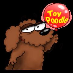 [LINEスタンプ] 愛しのトイプードル かわいい犬スタンプ (1)