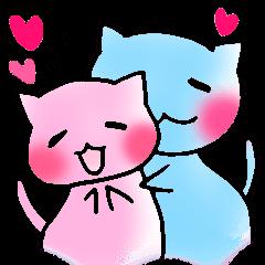 同棲、新婚カップル連絡用 らぶらぶゆる猫