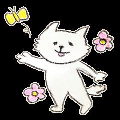 白い犬の日常