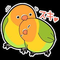 鳥いっぱいスタンプ