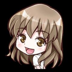 アニメ大好きな女の子「ちびさん」スタンプ