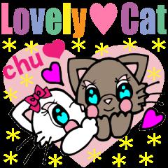 [LINEスタンプ] Lovely Cat Vol.2 おしゃまなペルシャ猫 (1)