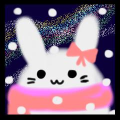 星空スノードーム(うさぎとしっぽ)夜空星