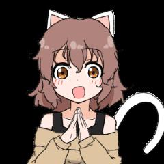 猫耳ちゃんスタンプ