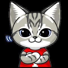 猫スタンプ3段活用