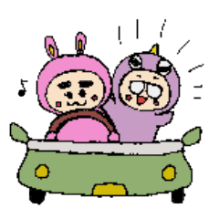 [LINEスタンプ] 着ぐるみ夫婦の日常 (1)