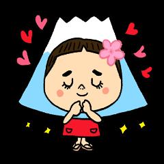 お茶目な女の子ゆこ。富士山かぶってみた