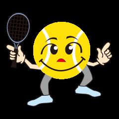 テニスをする人 2