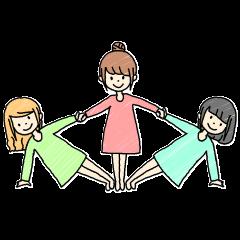 3姉妹と猫