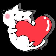 猫のスタンプ♪〜白猫黒猫