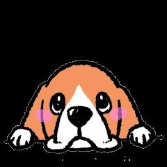 ビーグル犬スタンプ