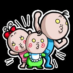 [LINEスタンプ] チューチュー妖精のチュ太郎とその家族 (1)