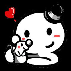 [LINEスタンプ] Mr.ホワイトとねずみさん2