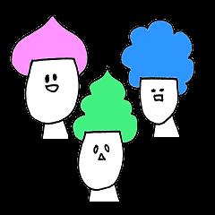 3人のお友達。