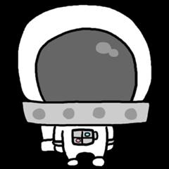 [LINEスタンプ] ユル宇宙飛行士さん